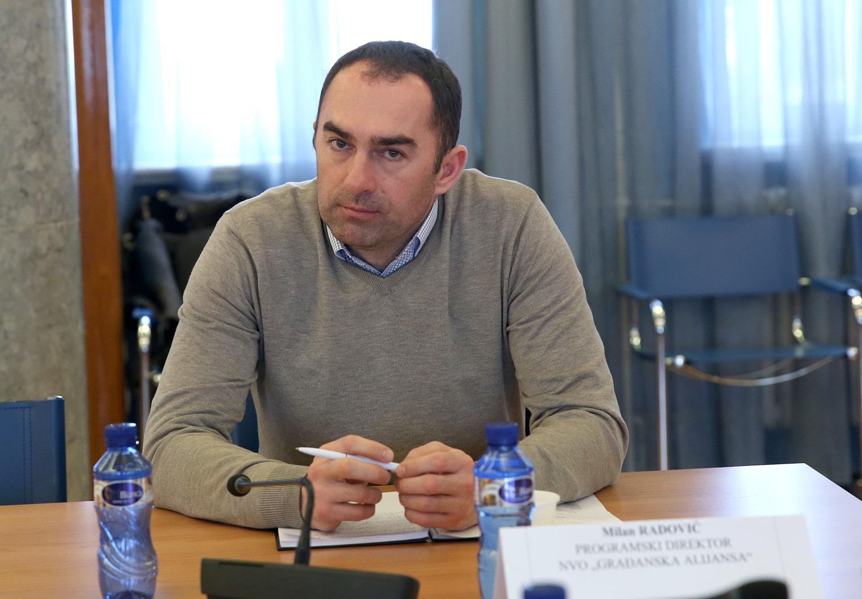 Milan Radović - Programski direktor za ljudska i manjinska prava u Građanskoj alijansi (Izvor: Internet))