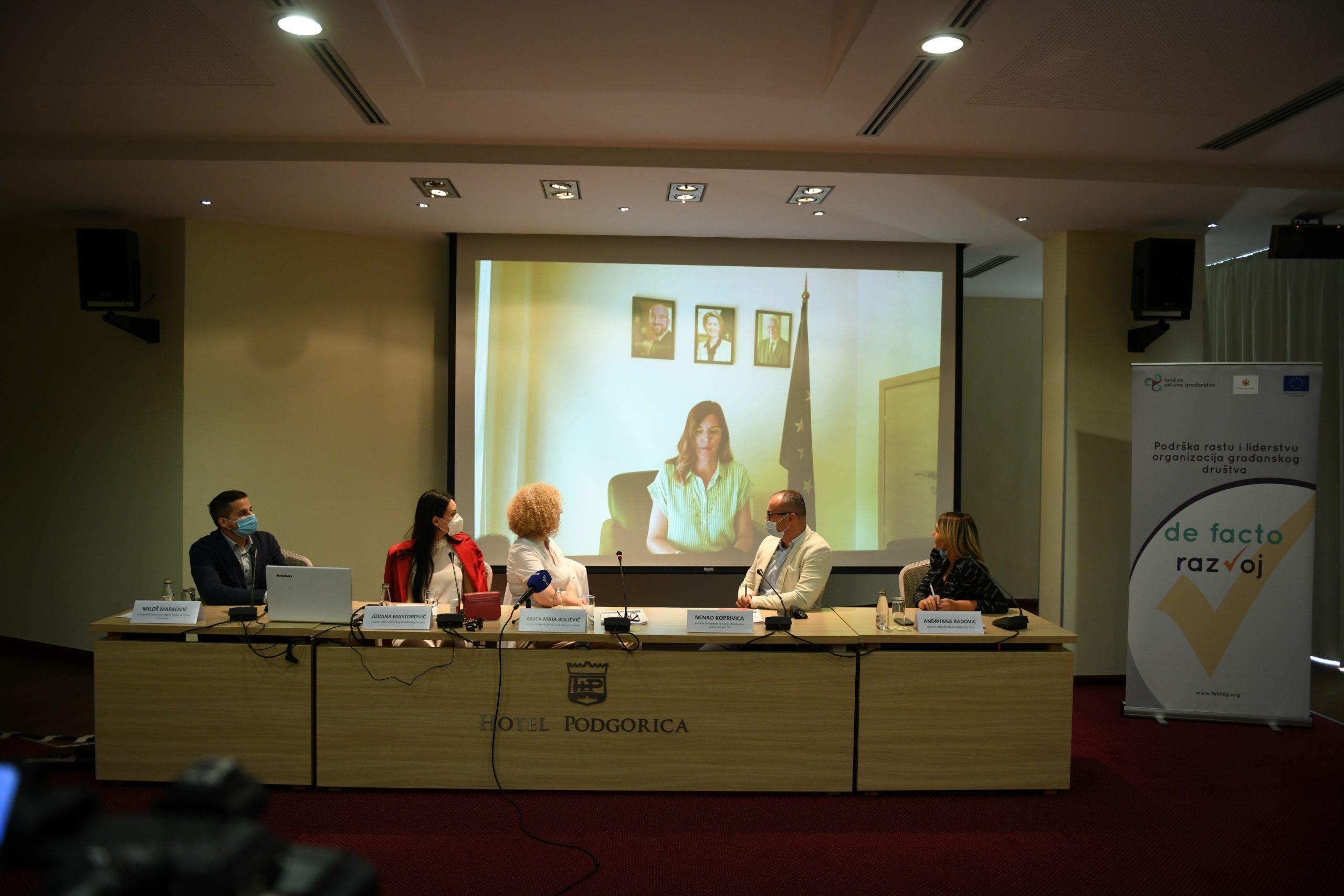 Video uključivanje Oane Kristine Popa, nove šefce Delegacije Evropske unije u Crnoj Gori (Izvor: Mreža za mlade Crne Gore)