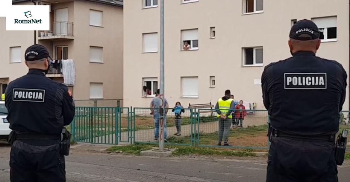 Zatvoren kamp Konik pod budnim okom policije. Foto: RomaNet portal