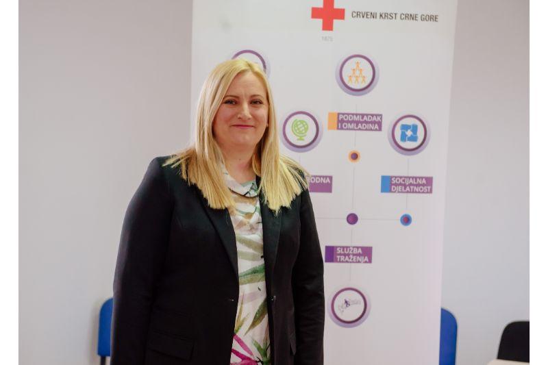 Generalna sekretarka Crvenog krsta Crne Gore Jelena Dubak (foto: PR Centar)