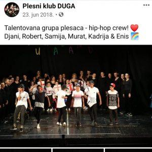 Eni i Đani kao članovi plesnog kluba Duga na takmičenju u Nikšiću ( foto: facebook)
